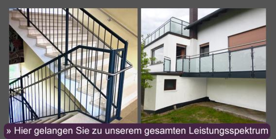 Hier gelangen Sie zu den Produkten und Leistungen der Metallbau Röhrig GmbH & Co. KG aus Hosenfeld nahe Fulda