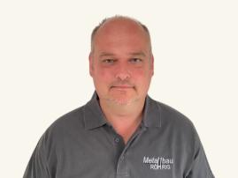 Ansprechpartner Jürgen Klüber, Monteur der Metallbau Röhrig GmbH & Co. KG aus Hosenfeld bei Fulda
