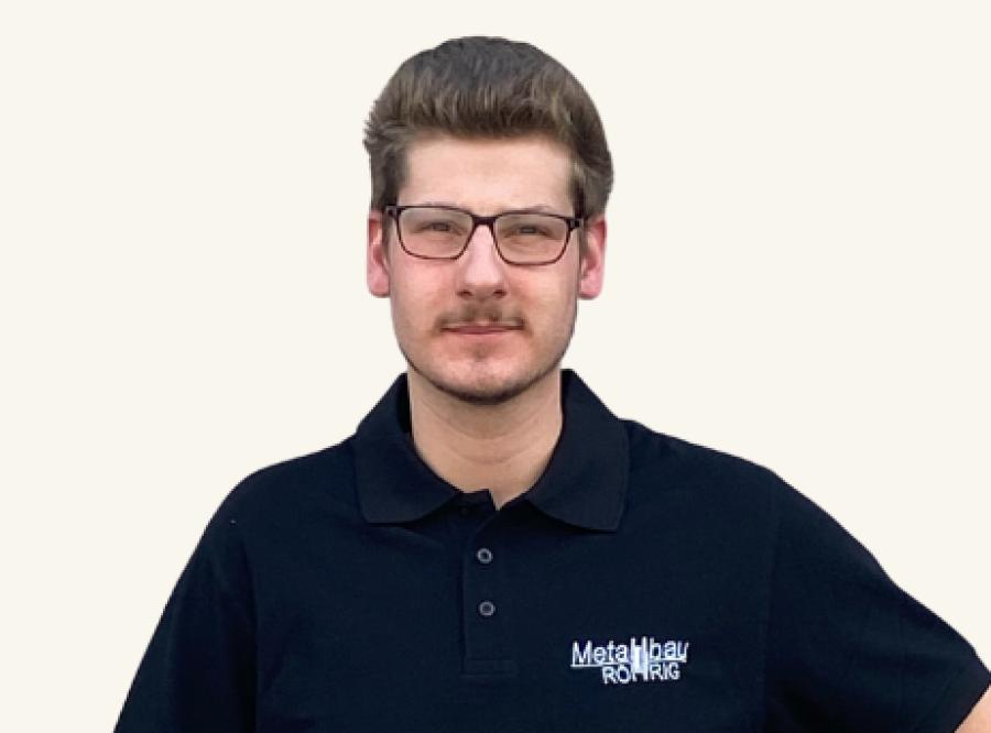 Ansprechpartner Fabian Mehler, Metallbauer der Metallbau Röhrig GmbH & Co. KG aus Hosenfeld bei Fulda