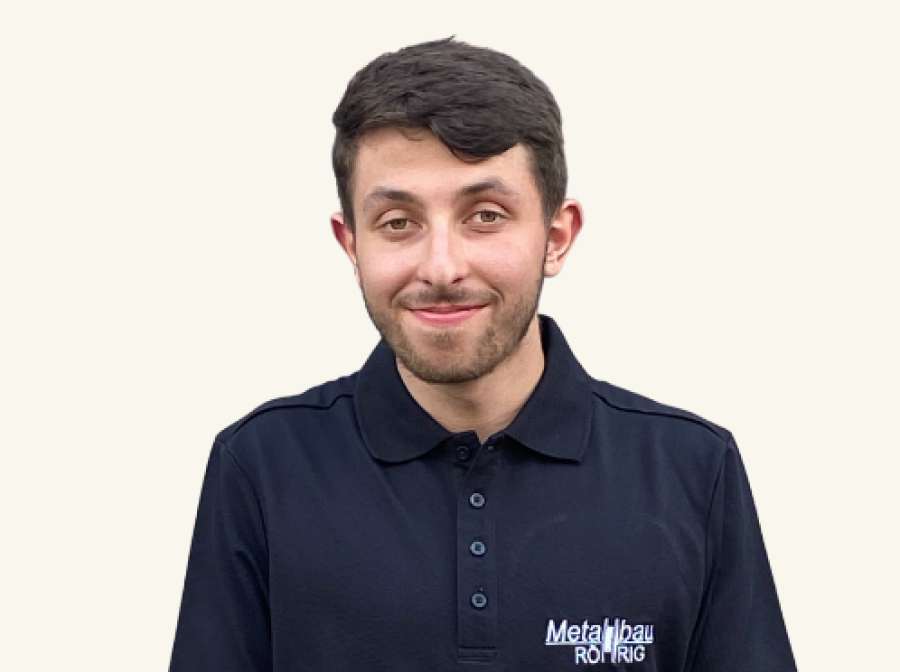 Jonas Hofmann, Auszubildender der Metallbau Röhrig GmbH & Co. KG aus Hosenfeld bei Fulda